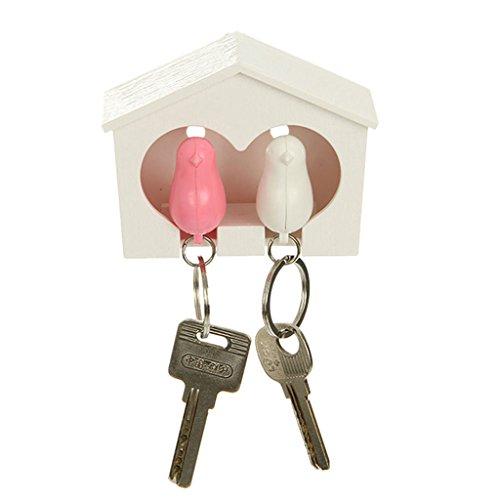 joyMerit Spatz In Vogelhaus Schlüsselring Schlüsselhalter Pfeife Schlüsselring Aufhänger - #1