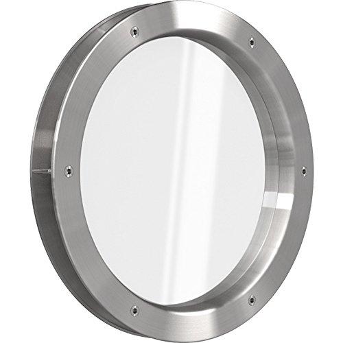 MLS Bullauge B4000 aus gebürstetem Edelstahl für Wandstärke 40 +/- 2 mm Durchmesser 40 cm, Ausführung Glas Klar
