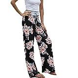 Moda para Mujer Pantalones Casuales con Cordones Moda Suelta con Cordones Multicolor Variedad Pantalones Anchos con Estampado Recto