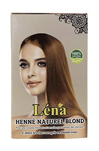 Blondes henna, haarfarbe dauerhafte, revitalisierung, haarpflege, glanz, pflanzenhaarfarbe, weiße haare bedecken und 100% natürlich - 100 g