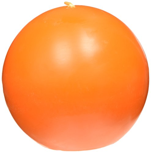 Zest Candle 2-Piece Ball Candles, 4-Inch, Orange