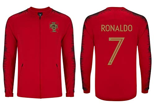 Cristiano Ronaldo #7 Kids Soccer Tracksuit All Youth Sizes CR7 Football Track Jacket Top or Tracksuit with Pants (YL 10-12 Years, Home Jacket Only)