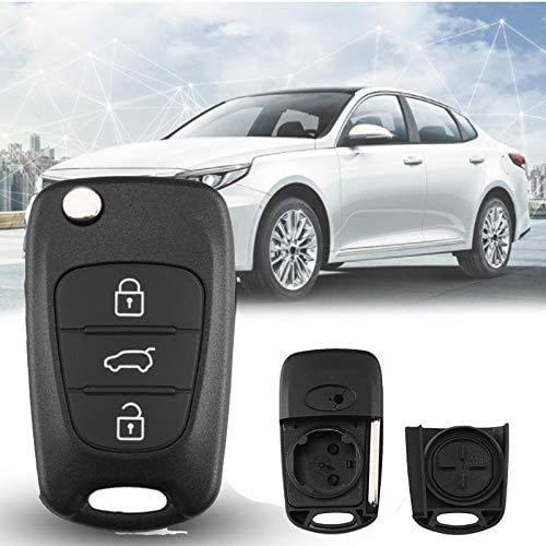 Reemplazo de la carcasa del mando a distancia para llave de coche con 3 botones y tapa plegable para 2011 2012 2013 Kia K2 K5 Rio 3 Picanto Ceed Cerato Sportage para Hyundai