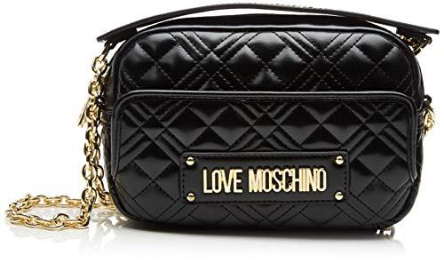 Love Moschino Damen Jc4002pp1a Umhängetasche, Schwarz (Nero), 6x14x22 Centimeters