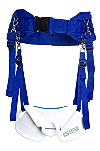 Gaffer Sportfishing Wide Body Stand Up Fishing Harness with Fighting Belt Rod Holder (Blue)
