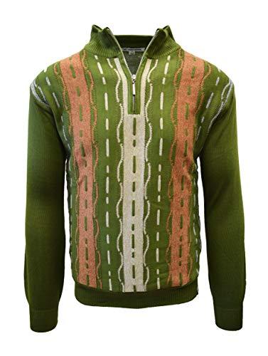 STACY ADAMS Men's Sweater, Tri Vertical Jacquard Front Design