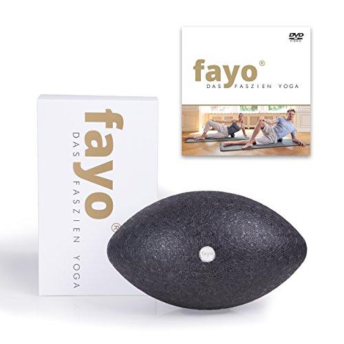 Liebscher & Bracht FAYO Faszienball/Faszienrolle, Ball zur Selbstmassage, zum Faszien-Yoga und Faszientraining, 21cm, mit Übungs-DVD