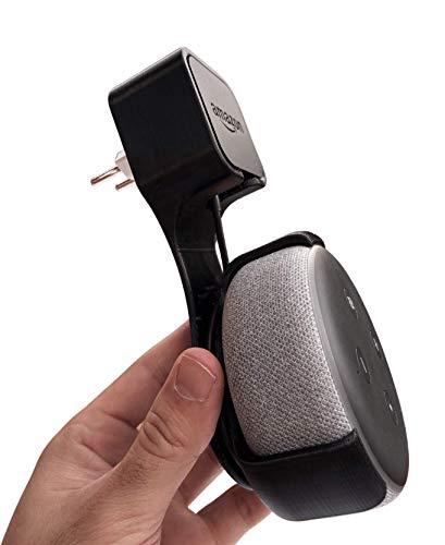 Suporte All in one de Tomada para Amazon Alexa Echo Dot 3 modelo clássico (preto)