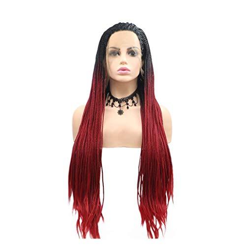 Peluca degradado de la peluca de la peluca roja de la peluca de encaje delantero de la peluca delantera de la peluca sintética para las muchachas con elegancia de la fiesta de la fiesta natural de la