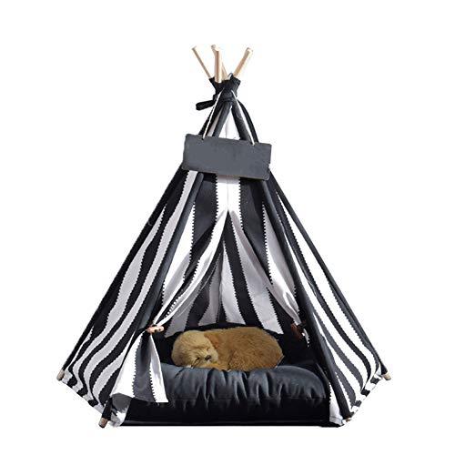 Hond Tipi Tent, draagbaar opvouwbaar wasbaar katoenen kattenspel, huis-Indiase hondenbed nest met matras/tafel