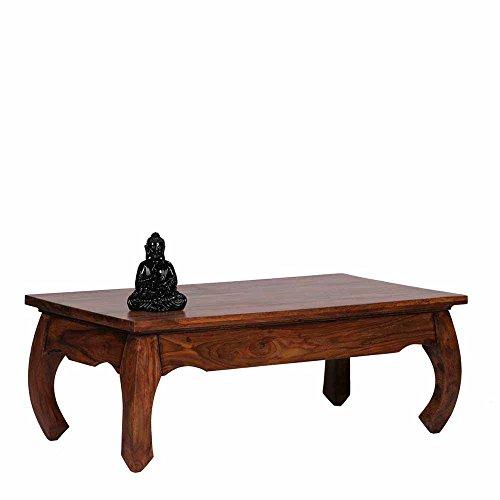 Pharao24 Opiumtisch aus Sheesham Massivholz Landhausstil Breite 110 cm rechteckige Tischform