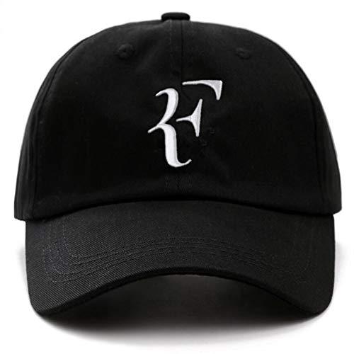FHSOHG Unisex Marke Caps Tennis Roger Federer Papa Hut Sport Baseball Kappe Baumwolle 3D Stickerei Tennis Hut F Brief