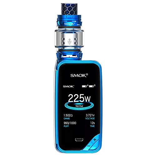SMOK X-PRIV Kit 225W E Sigaretta Elettronica Kit Completo Vape TC Box Mod con Top Refill TFV12 Prince Tank Atomizzatore 0.4ohm Resistenza Senza Nicotina Senza Liquido (Prisma Blu)