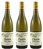 Vin blanc'Chablis vieille vigne' en lot de 3 bouteilles de 75 cl