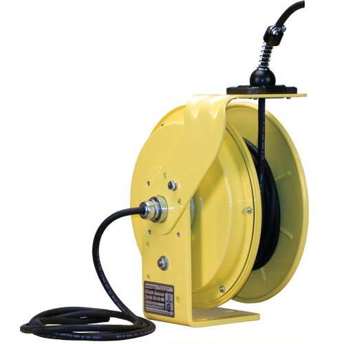 Lind Equipment LE9050123BE Heavy Duty Cord Reel, 50ft 12/3 SJOW, bare input and output ends, 20A rated, NEMA4, all-steel