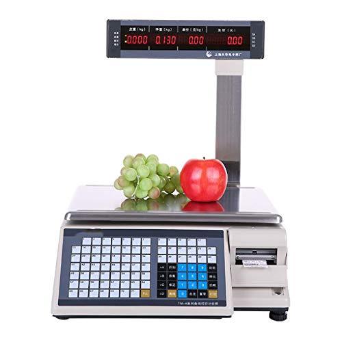 Silai Barcode-Waage ▎ Elektronische Waage ▎ Elektronische Waage zum Drucken von Waagen ▎ Etikettenwaage Supermarkt Elektronische Waage ▎ Registrierkasse-Waage