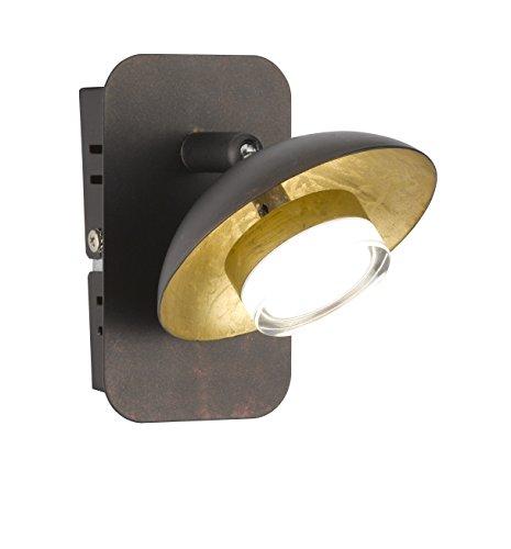 WOFI Spot, Metall, Integriert, 60 W, Braun, 12 x 10 x 136 cm