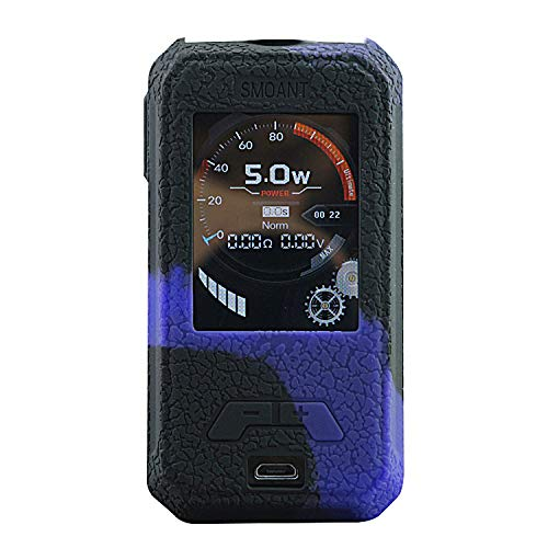 DSC-Mart Texture Case for SMOANT CHARON Mini 225W TC MOD Protective Silicone Skin Rubber Cover Sleeve Wrap Gel (Blackpurple)