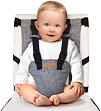 liuliuby Travel Harness Seat – Portable Safety Harness Chair Accessory for Baby & Toddler - Cloth Portable High Chair for Travel - Padded and Machine Washable - Convenient Baby Travel Accessory