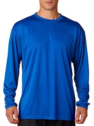A4 Long Sleeve Cooling Performance Crew Shirt (N3165)- ROYAL,XL