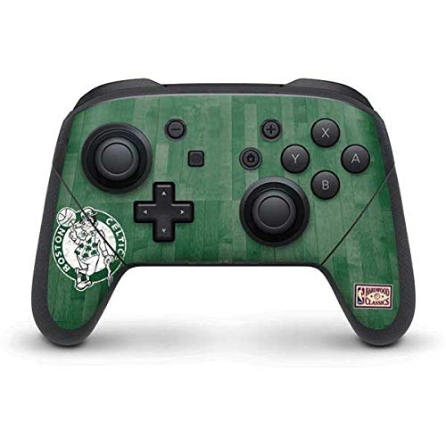 Skinit Decal Gaming Skin Compatible with Nintendo Switch Pro Controller - Officially Licensed NBA Boston Celtics Hardwood Classics Design