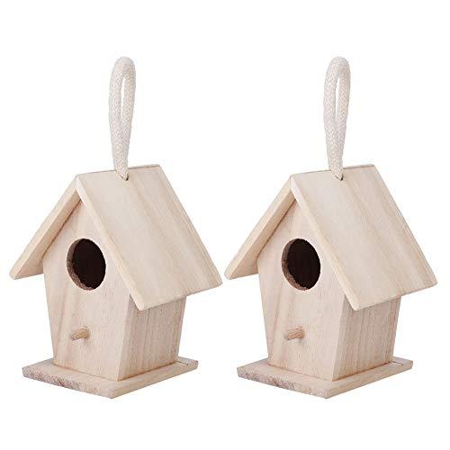 Decorazione per la casa, casetta in legno di alta qualità, durevole, con casetta in legno dalla consistenza morbida, casetta per prato, per pappagalli.