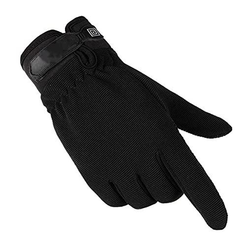 ZQDM Guantes tácticos Deportivos para Hombres, Ejército sin Dedos Ligero Ligero Transpirable Transpirable Femenino Finger No-Slip,Negro,M