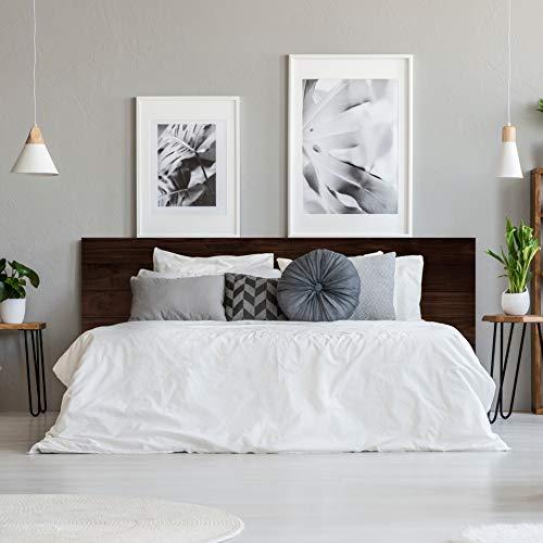 MEGADECOR Testiera per letto in PVC, decorativa, economica, in legno, colore: castano, rovere scuro...