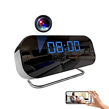 Alarm Clock Camera WiFi Hidden Camera HD 1080p Mini Spy Clock Camera with Motion Detection and Night Vision for Home Security and Protection
