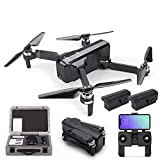SJRC F11 GPS Foldable Quadcopter Drone 1080P 5G WiFi Adjustable Camera Record Video 1-Key RTH Altitude Hold Track Flight iOS Android App Operation Headless Brushless Motor (SJRC F11 + 2 Battery + Box)