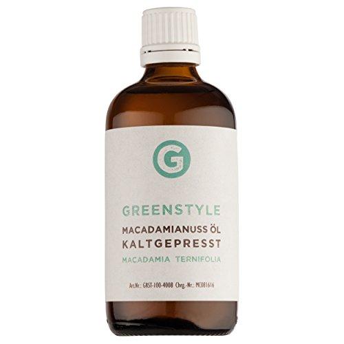 Macadamianussöl 100ml - reines kaltgepresstes Öl zur Pflege von Haut und Haar von greenstyle
