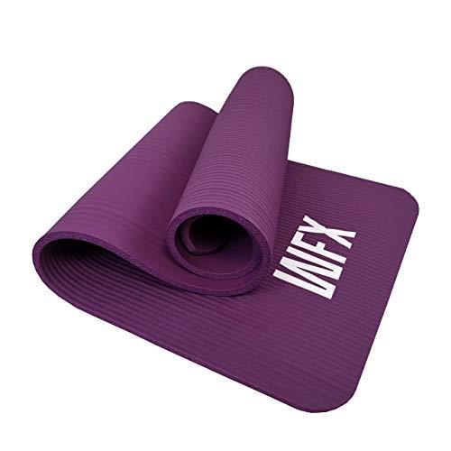 #DoYourFitness X World Fitness Tappetino Fitness »Yamuna« - Extra Spesso e Morbido, Ideale per Pilates, Ginnastica, Studio, Yoga, Allenamenti Casa - Dimensioni: 183 x 61 x 1,5cm - Viola