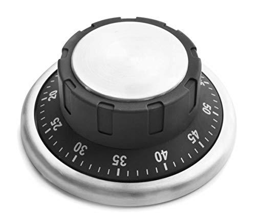 LACOR 60803 Minuteur de Cuisine magnétique, Acier Inoxydable, Noir, 0 cm