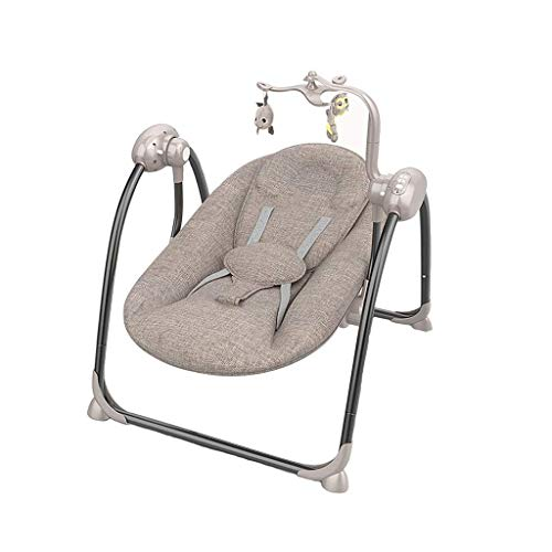 Best Review Of AAY Baby Swing, High-tech Baby Rocker, Bluetooth Enabled – Soft, Plush Fabric with ...