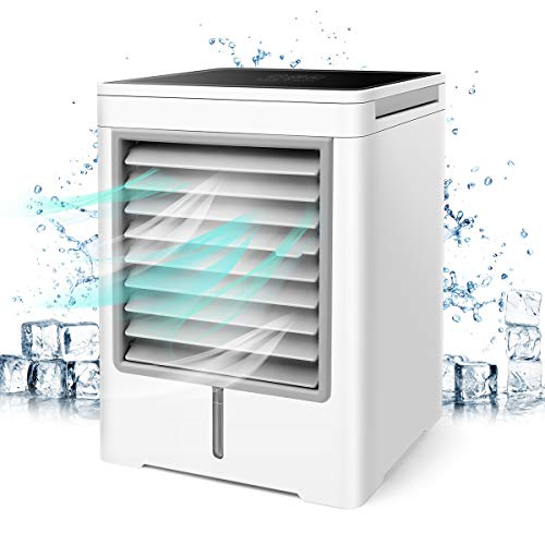 Portable Air Conditioner, 3 in 1 Air Cooler, Purifier, Humidifier, 3 Speeds Mini Air Conditioner Fan with Timing Function for Home Room Office