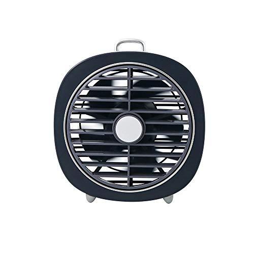 HYH Mini Ventilatore Muto Retro ventoso Coperchio Girevole USB Camera da Letto da Tavolo a LED Night Light 2 in1 Bella Vita (Colore : Blue)