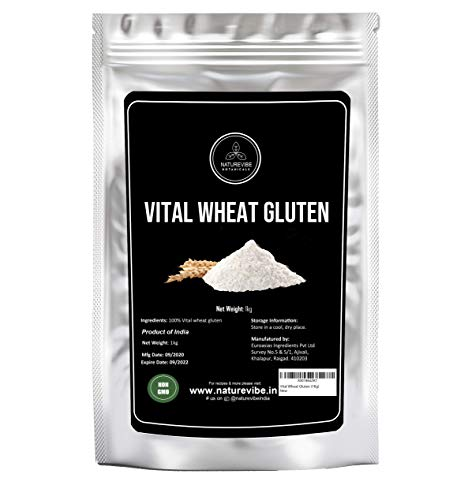 Naturevibe Botanicals Vital Wheat Gluten, 1 Kg | Non-GMO, Gluten Free and Keto Friendly | High in Protein