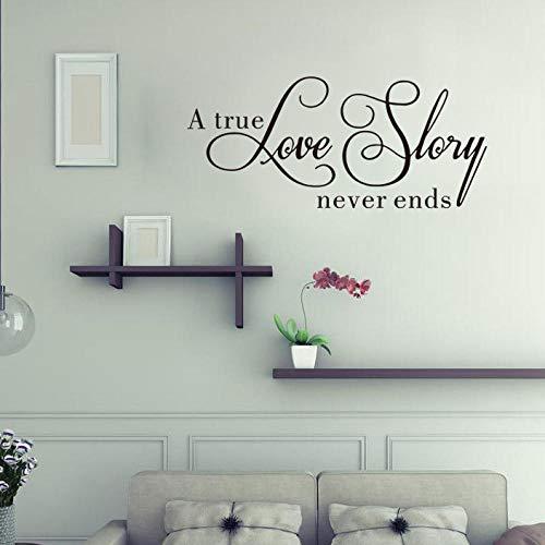 Muurstickers Quotse, letters, eenvoudig en elegant, Art Decal, afneembaar, voor het zelf maken, behang, vinyl, wandsticker, woonkamer, slaapkamer, huis, nachtkastje, wandsticker, decoratie voor kantoor