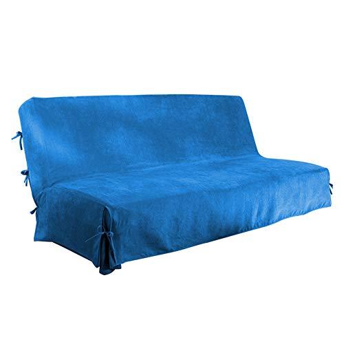 Antonouse Copridivano senza braccioli Fodera per divano Clic Clac140x200,Fodera per divano letto (blu)