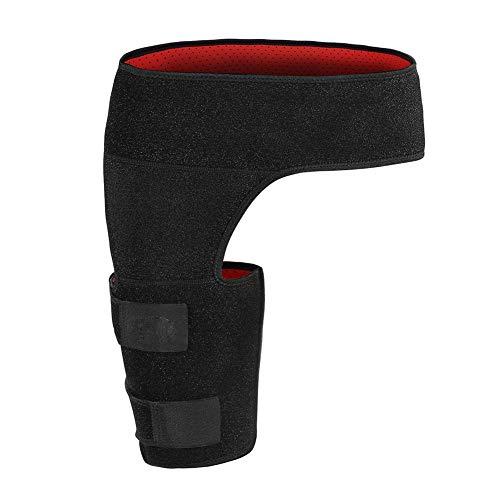 ANGGO Envoltura de la ingle Negro Soporte ajustable para la cadera de la ingle Brace Wrap Muslo Apoyo Alivio del Dolor de la Tensión Neopreno Cadera