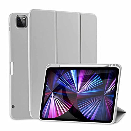SIWENGDE Magnetische Hülle für iPad Pro 11 2021/2020, Robuste Stoßfeste Ganzkörper Schutzhülle für das iPad Pro 11 Zoll(3. Generation 2.Generation ), Auto Schlaf/Aufwach (Smog Grau)