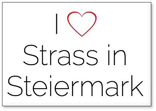 M&us Souvenirs - Ich Liebe Strass in Steiermark, Kühlschrankmagnet (Design 1)