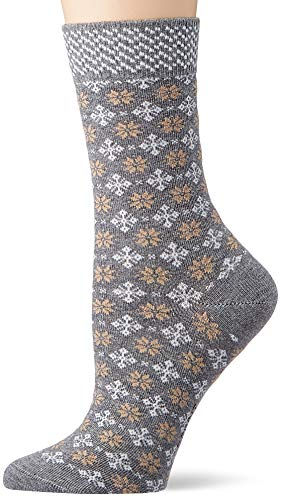 ESPRIT Damen Norwegian Socken, grau (Light Grey Mel. 3390), 39-42 (UK 5.5-8 Ι US 8-10.5)