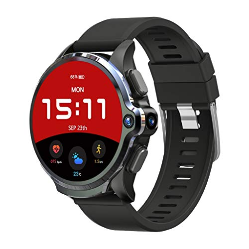 Yuege for KOSPET Prime 4G/LTE Smart Watch Android7.1.1 Phone 1.6 inch IPS Full Face ID Unlock Dual Cameras IP67 Waterproof 1260mAh Battery Life 3GB RAM 32GB ROM Memory GPS Heart Rate Monitor (A)