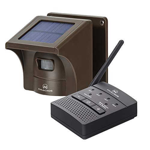 1/4 Mile Solar Driveway Alarm Sytem Wireless Long Range Outdoor Weather...