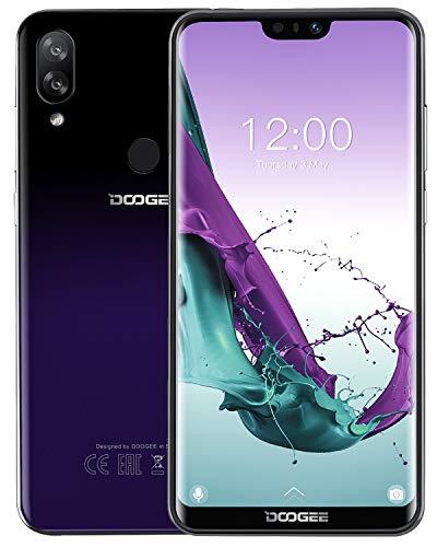 DOOGEE N10 Dual SIM 4G Handy Ohne Vertrag Günstig, Android 8.1 Smartphone 19:9 5,84 Zoll FHD+ U-Notch, Octa-Kern 3GB RAM+32GB ROM 16MP+13MP+16MP Kameras, 3360mAh Gesichtserkennung+Fingerabdruck, Lila