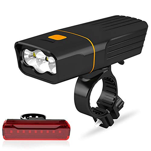 Ljmm888 Bicycle Light Mountain Bike LED Flashlight Night Ride Headlight USB Charging Glare(A - T6)