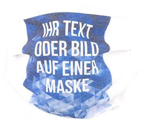 PICSonPAPER Community Maske Bedrucken mit eigenem Bild oder Text, Maske selbst gestalten, Individuelle Community Maske