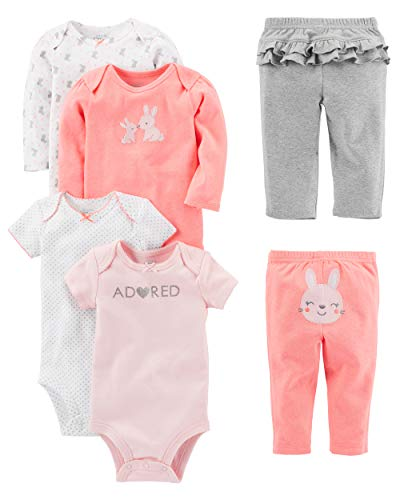Simple Joys by Carter's Baby Mädchen (0-24 Monate) Bekleidungsset rosa Pink Bunny 0 - 3 Months