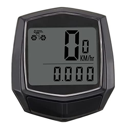 LEAA Bike Computer with LCD Digital Display,Bicycle Odometer Speedmeter,Waterproof Cycling Wired Stopwatch,black
